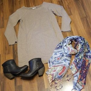 J. Jill Pure Jill Light Brown Tunic Style Dress
